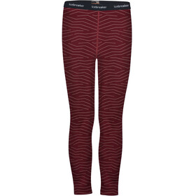 Icebreaker 200 Oasis Napasoq Lines Leggings Kids, redwood